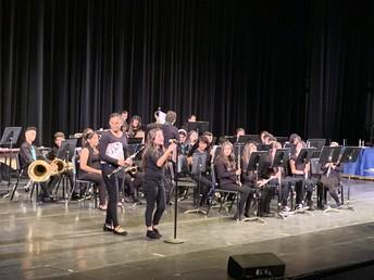 The Band Performing at the Winter VAPA Showcase