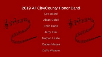 Lee Beard, Aidan Cahill, Colin Cahill, Jerry Fink, Nathan Leslie, Caden Massa, Callie Weaver