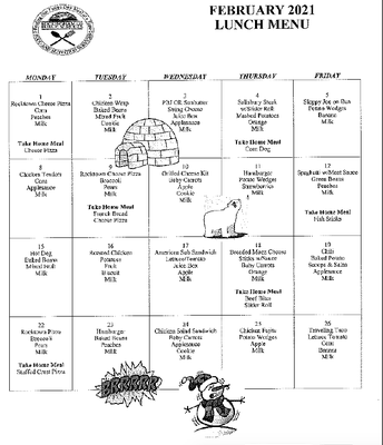 EES Lunch Menu-February
