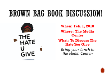 Brown Bag Lunch Discussion- Feb. 1