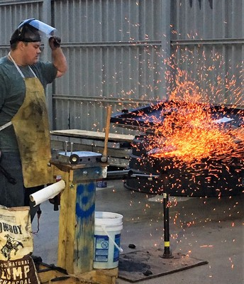 Material Science Students Learn about Metal Forging firsthand.