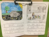 Mrs. Beutel's First Grade Students can write a narrative with a beginning, middle, and end.