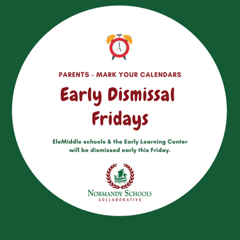 Reminder - Late Start for NHS Monday; Early Dismissal for ELC & EleMiddles