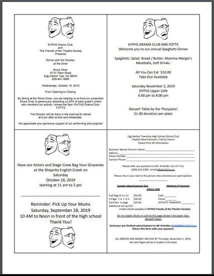 EHTHS Drama Club Flyer