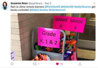 Keller ISD Librarian Provides Books for Readers