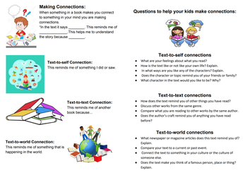 Reading Strategy for Parents and Children: Making Connections - Grades K-5
