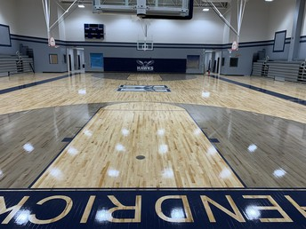 Sneak peek of the gym and the newly installed gym floor!