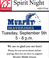 Chick fil A Murphy Spirit Night