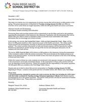 5th Grade Health Letter