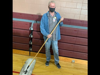 Custodians with a mask!