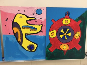 Grade Fours Created Indigenous Paintings