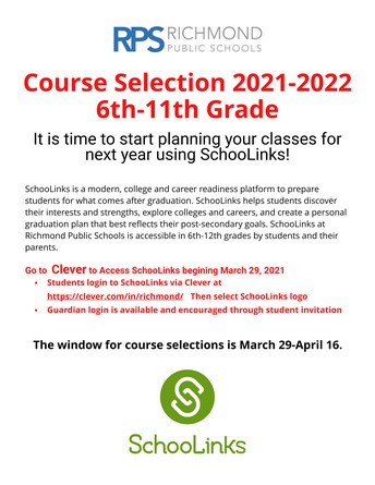 Course Selection for 2021-2022