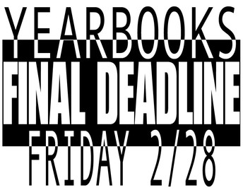 Last Chance to Purchase a Yearbook!