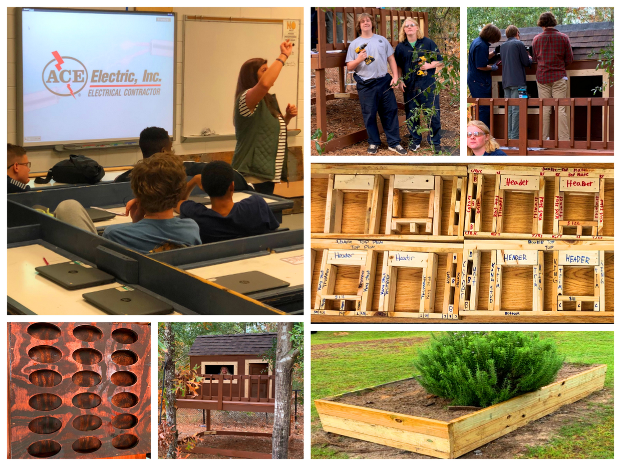 Collage of Construction Pathway projects