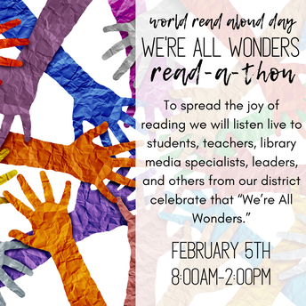 We're All Wonders Skype-A-Thon for World Read Aloud Day