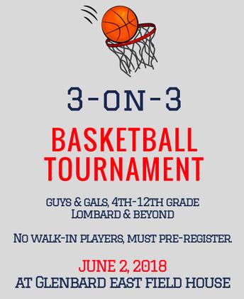 Lombard  Rotary 3 v 3 Basketball Tourney: