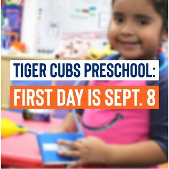 Tiger Cubs Preschool graphic