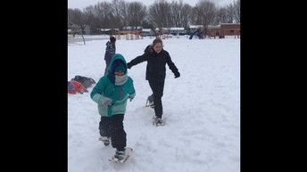Floor Hockey, Snowshoeing, and Cross Country Skiing at Kennedy!