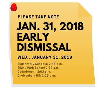 Make Up Early Dismissal | Wednesday, Jan. 31