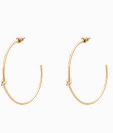 Simple Knot Hoops - Gold