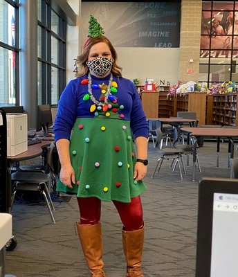 Ms. Ogden is Christmas from head to toe!