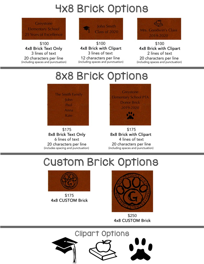 Brick options for purchase