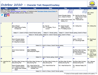 October At-A-Glance (Revised)