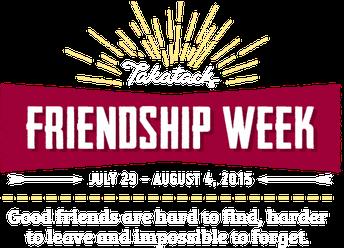 FRIENDSHIP WEEK IS COMING!  November 16-20th