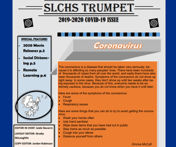 Students Publish COVID-19 Edition of Trumpet