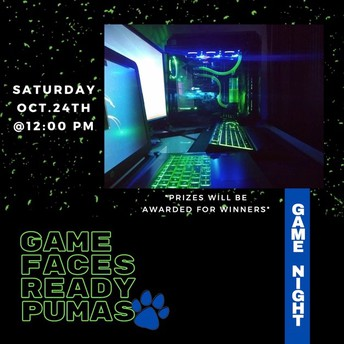 Save the Date - Game Night! - October 24th