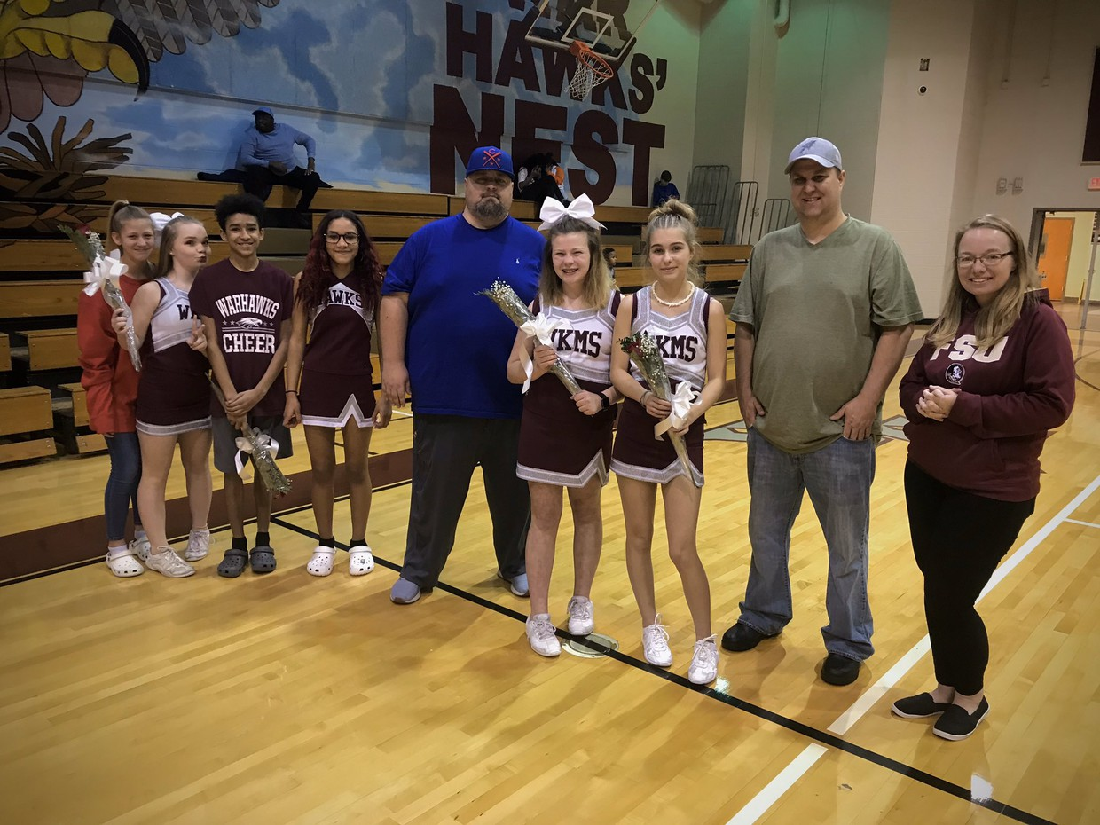 8th Grade Recognition for Basketball Cheerleading!
