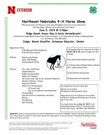 Northeast Nebraska 4-H Horse Show