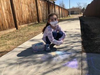 A beautiful day for sidewalk chalk!