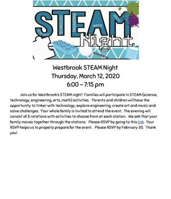 Westbrook School Steam Night