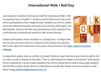 International Walk & Roll Day