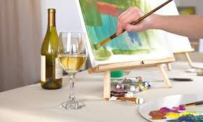 Wine/Paint Gift Basket