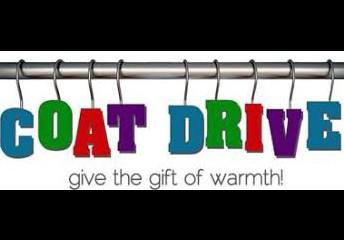 """Coat Drive Estamos aceptando abrigos en buenas condiciones para poder dar a alguien que lo necesite. Si tiene abrigos """"demasiado pequeños"""", tráigalos y colóquelos en la """"caja de abrigos"""" en el vestíbulo delantero."""