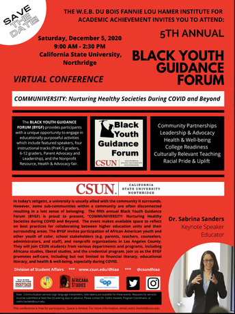 Black Youth Guidance Forum at CSUN
