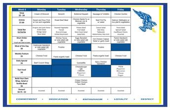 Cafeteria Menu February 22-26