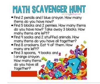 Math Scavenger Hunt