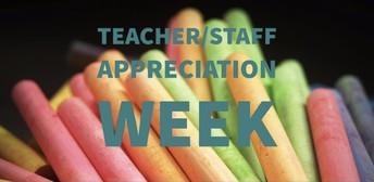 May 3rd - 7th Staff Appreciation