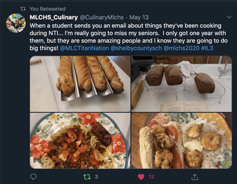 MLCHS Culinary Students