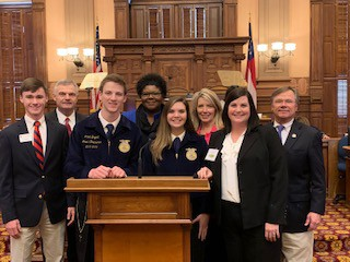 LaGrange High School FFA Students Visit the State Capitol