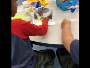 Learning about kaleidoscopes In Kindergarten!