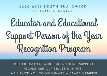 EDUCATOR AND EDUCATIONAL SUPPORT PERSON OF THE YEAR