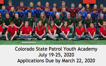 Colorado State Patrol Youth Academy-Deadline to sign up is March 22nd