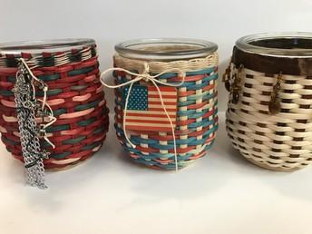 Votive Jar Baskets with Lisa Brathall