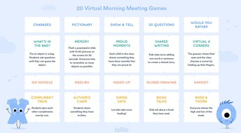 Zoom Morning Meeting Activites