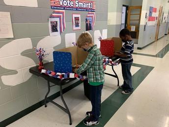 Voting at Clayton Ridge Elementary