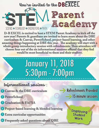 DBE STEM Parent Academy Presentations